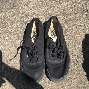 Vans black shoes men's